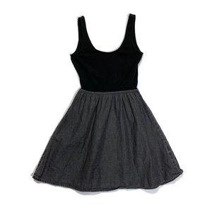H&M grey chambray tank dress